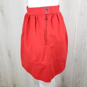 Madewell Skirts - Madewell Red Swivel Ponte skirt Size 2